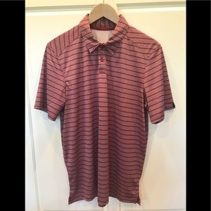 Oakley striped golf polo